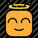 angel, emoji, emoticon, rip icon