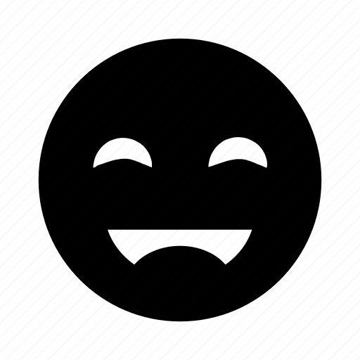 emoji, happy, laugh, smile icon