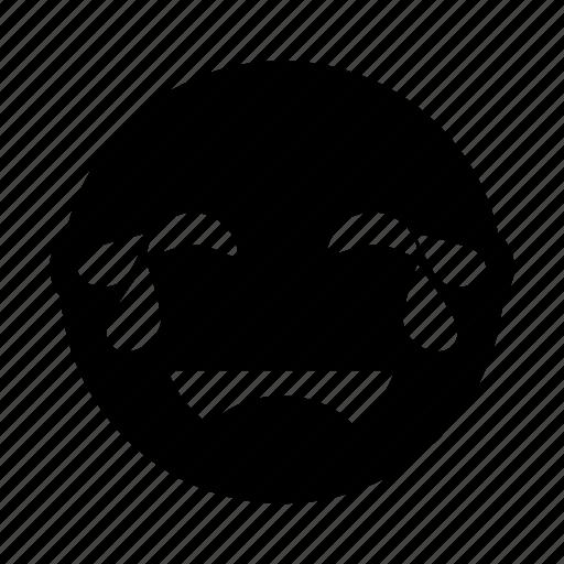 emoji, fun, happy, laugh, rofl, tears icon