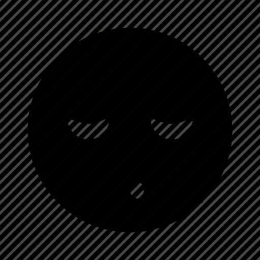 bored, emoji, relief, rest, sleep, snooze icon