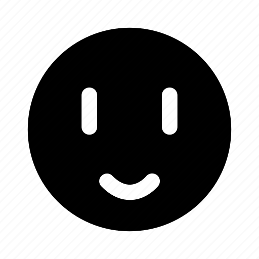 emoji, happy, pleasant, positive, smile icon
