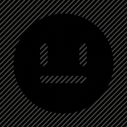 emoji, face, plain, speechless icon