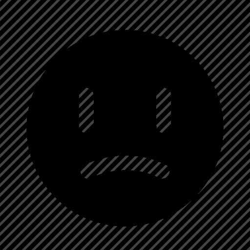 down, emoji, sad, unpleased, upset icon