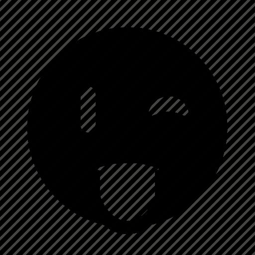 emoji, playful, smirk, wink icon