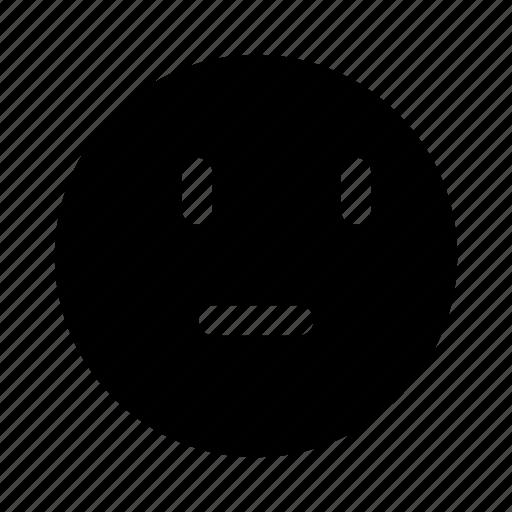emoji, emotion, face, think, wonder icon