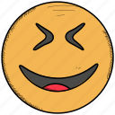 emoji, emoticon, happy, smiley, surprised icon