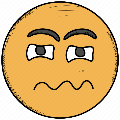 Confounded, confused, emoji, eyes, face, scrunched, smiley icon - Download on Iconfinder