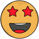 emoji, feeling, happy, in, love, loved, smiley, star, valentine