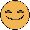 emoticon, happy, moji, smiley, surprised icon