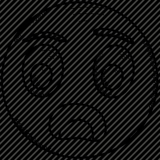 Astonished, face, hushed, shocked, surprised, wondering icon - Download on Iconfinder