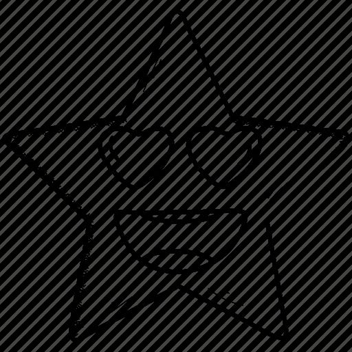 emoji, feeling, happy, in, love, loved, smiley, valentine icon