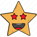 emoji, feeling, happy, in, love, loved, smiley, star, valentine icon