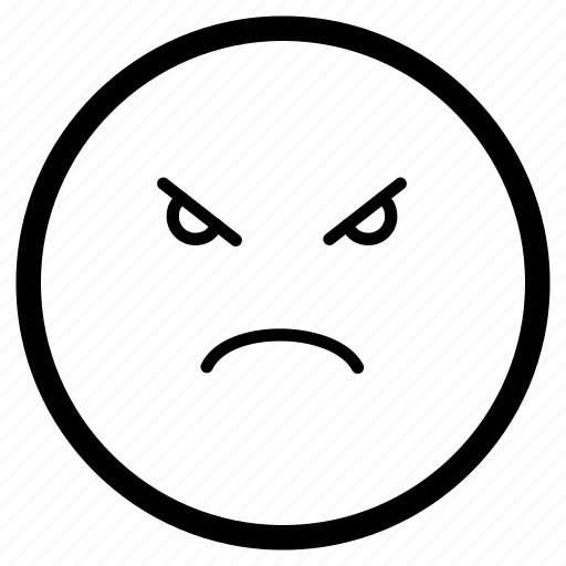 Angry, emoji, emoticon, face, furious, upset icon - Download on Iconfinder