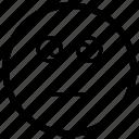 cross, dumb, emoji, emoticon, eyed, silly, stupid icon