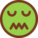 confused, disgusted, emoji, emotion, face icon