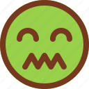 confused, disgusted, emoji, emotion, face, man icon