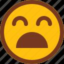 emoji, emotion, face, omg, sad, upset icon