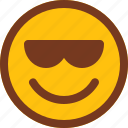 emoji, emotion, face, happy, smart, smile icon