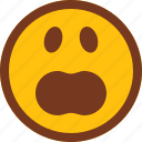 emoji, emotion, face, upset, wow icon