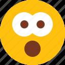 emoji, emotion, face, man, omg, upset icon