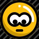 crying, emoji, emotion, face, man, sad icon