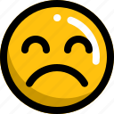 crying, emoji, emotion, face, man, sad icon