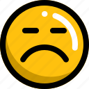 emoji, emotion, face, sad, smart, upset icon