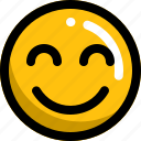 emoji, emotion, face, happy, man, smile icon