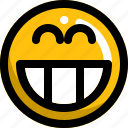 emoji, emotion, face, happy, lol, smile icon