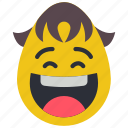 boy, emojis, first, laughing, smiley icon