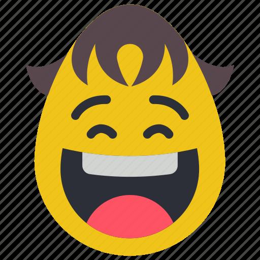 boy, emojis, first, laughing, smiley icon