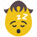 boy, emojis, sleep, sleeping, sleepy, tired icon