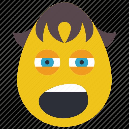 bored, boy, emojis, tired, yawn icon