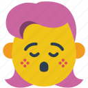 emojis, girl, good, grief, oh dear, sing icon