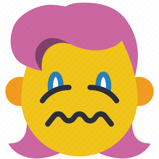emojis, first, girl, ill, queezy, sick, upset icon