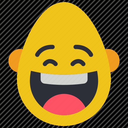 bold, emojis, happy, laugh, lol, man, smiley icon