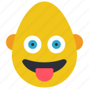 bold, emojis, first, loopy, man, smiley, tongue icon