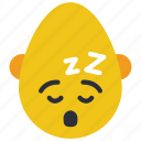 bold, emojis, man, rest, sleep, smiley, tired icon