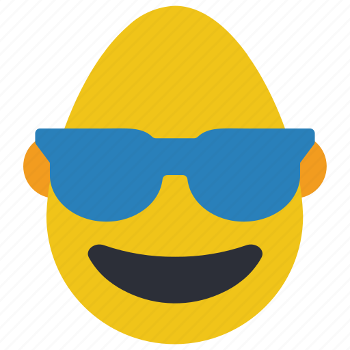 bold, cool, emojis, glasses, man, shades icon