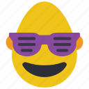 bold, cool, emojis, first, glasses, man, shades icon