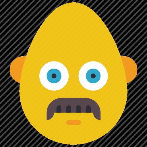 bold, emojis, first, man, mustache, smiley icon