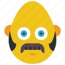bold, burns, emojis, hair, mustache, side, smiley icon