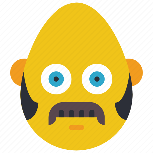 bold, burns, emojis, hair, mustache, side, smiley icon