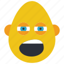 bold, bored, emojis, first, man, tired, yawn icon