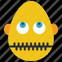bold, emojis, man, silent, zipped, zippit icon