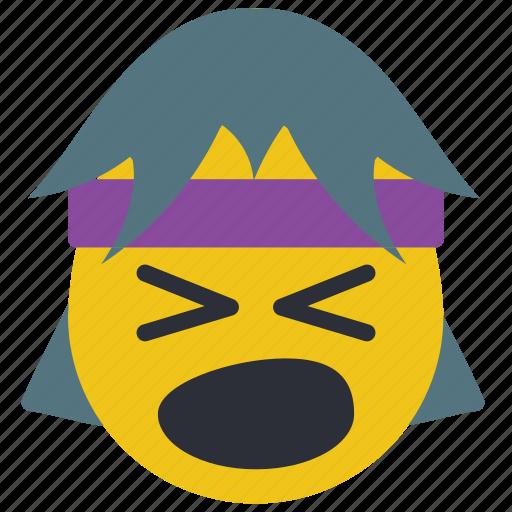 emojis, first, loud, rock, scream, shout icon
