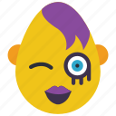 emojis, emotion, first, flirt, goth, wink icon