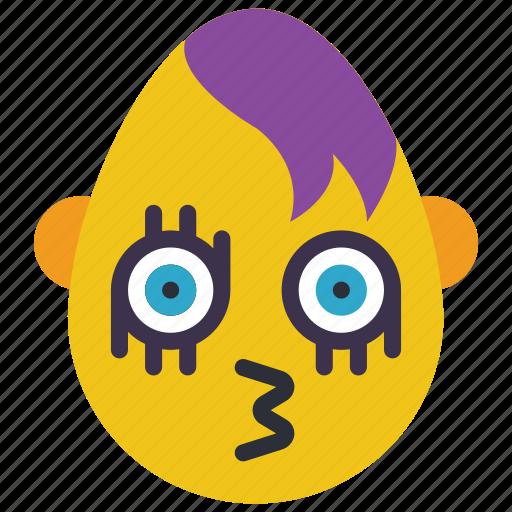emo, emojis, first, goth, kiss, snog icon