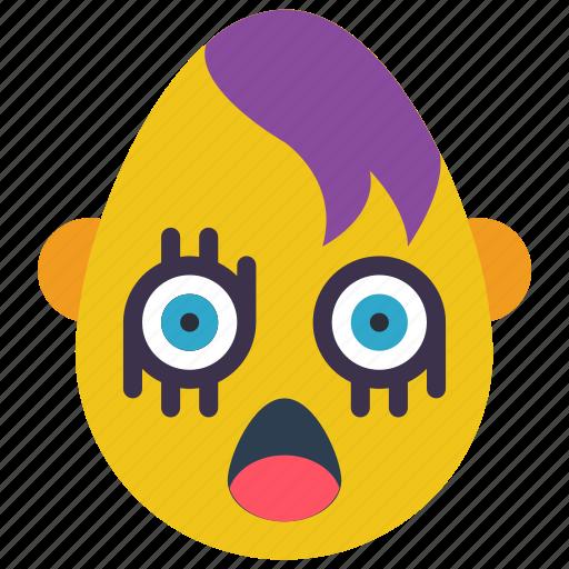 emo, emojis, emotion, first, goth, scream, shock icon