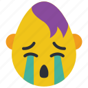 cry, emo, emojis, emotion, first, goth, sad icon